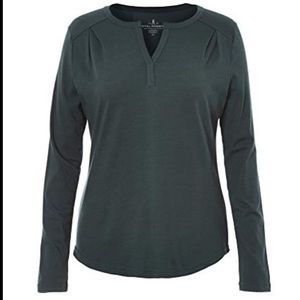 ROYAL ROBBINS - MERINOLUX HENLEY LONG SLEEVE TOP M